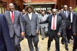East Africa heads of state, Uhuru Kenyatta (Kenya), Yoweri Museveni (Uganda), John Magufuli (Tanzania) and Paul Kagame (Rwanda)