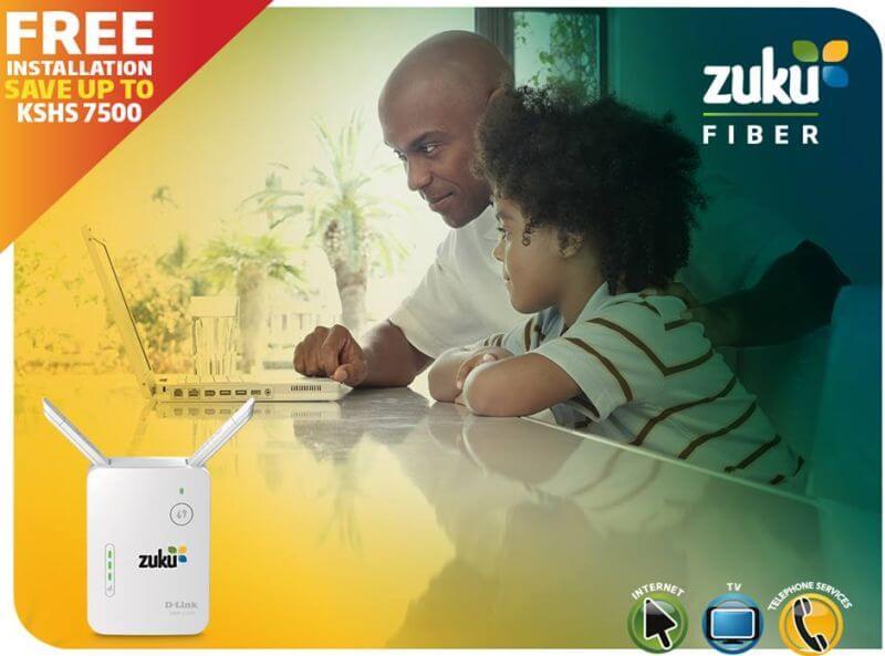 Zuku fibre triple play launches fast internet in Nakuru